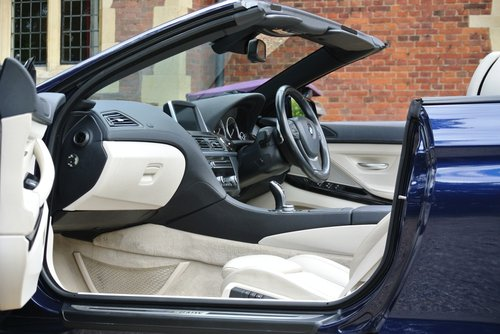 2012 BMW 640i SE CONVERTIBLE **EXCLUSIVE WHITE LEATHER** For Sale (picture 3 of 6)