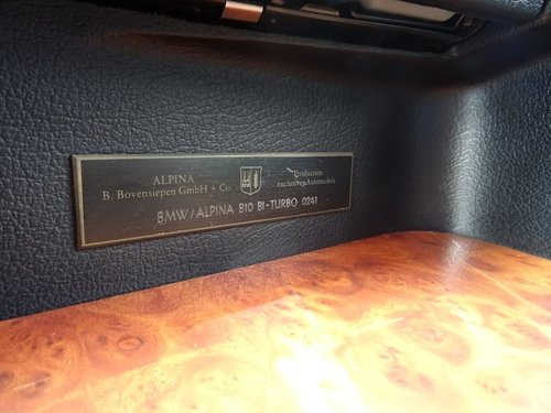 1991 BMW Alpina B10 null 3.5 4dr E34 B10 ALPINA 3.5 BITURBO LHD For Sale (picture 5 of 6)