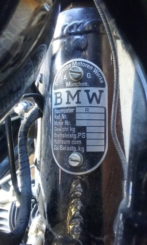 1938 BMW R12 STOE sidecar For Sale (picture 5 of 6)