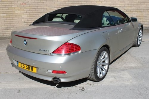 2006 BMW 650I CONVERTIBLE, CABRIOLET COUPLE AUTOMATIC For Sale (picture 2 of 6)