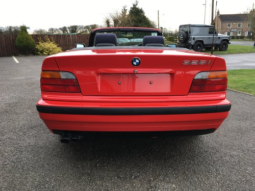 1996 BMW E36 328i CONVERTIBLE 14000 MILES ONLY For Sale (picture 5 of 6)