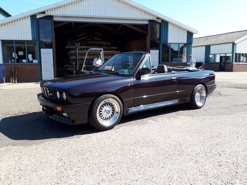 BMW M3 E30 convertible (1992) macao blue (1 of 786) LHD For Sale (picture 1 of 6)