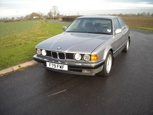 1989 BMW 735i SE AUTO GEN 55000 MLS FSH TOTALLY ORIGINAL For Sale (picture 2 of 6)