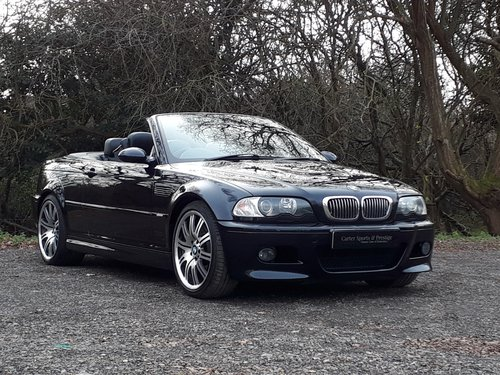 2003 IMMACULATE MIDNIGHT BLUE BMW M3 SMG CONVERTIBLE SOLD (picture 2 of 6)