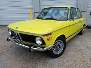 1976 BMW 2002 Golf Yellow For Sale
