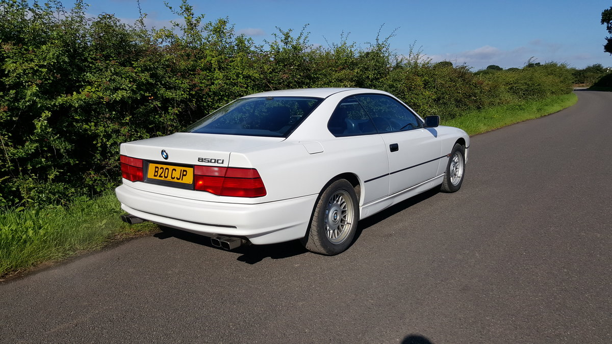 1991 BMW 850i v12 White AUTO For Sale (picture 2 of 6)