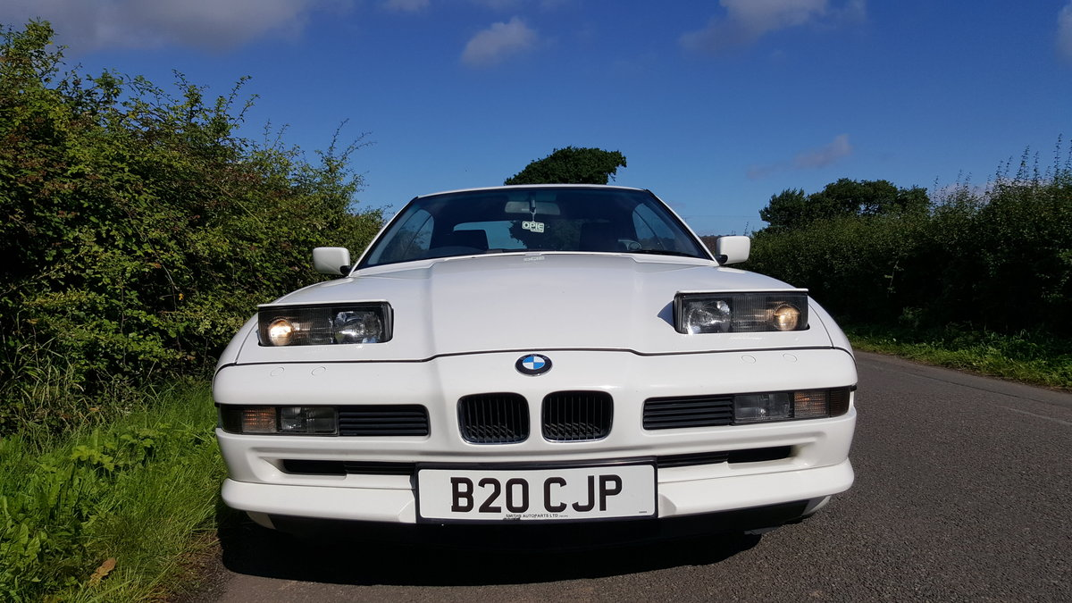 1991 BMW 850i v12 White AUTO For Sale (picture 5 of 6)