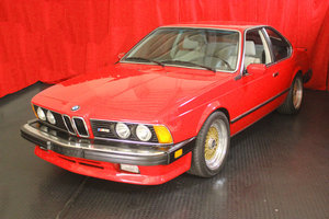 1987 BMW M6 Coupe = clean Red(~)Ivory 79k miles $$60k