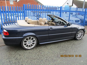 2004 6 CLY 2.5cc AUTO BMW 3 CONVERTIBLE 97,000 SOUND DRIVE MOTED For Sale
