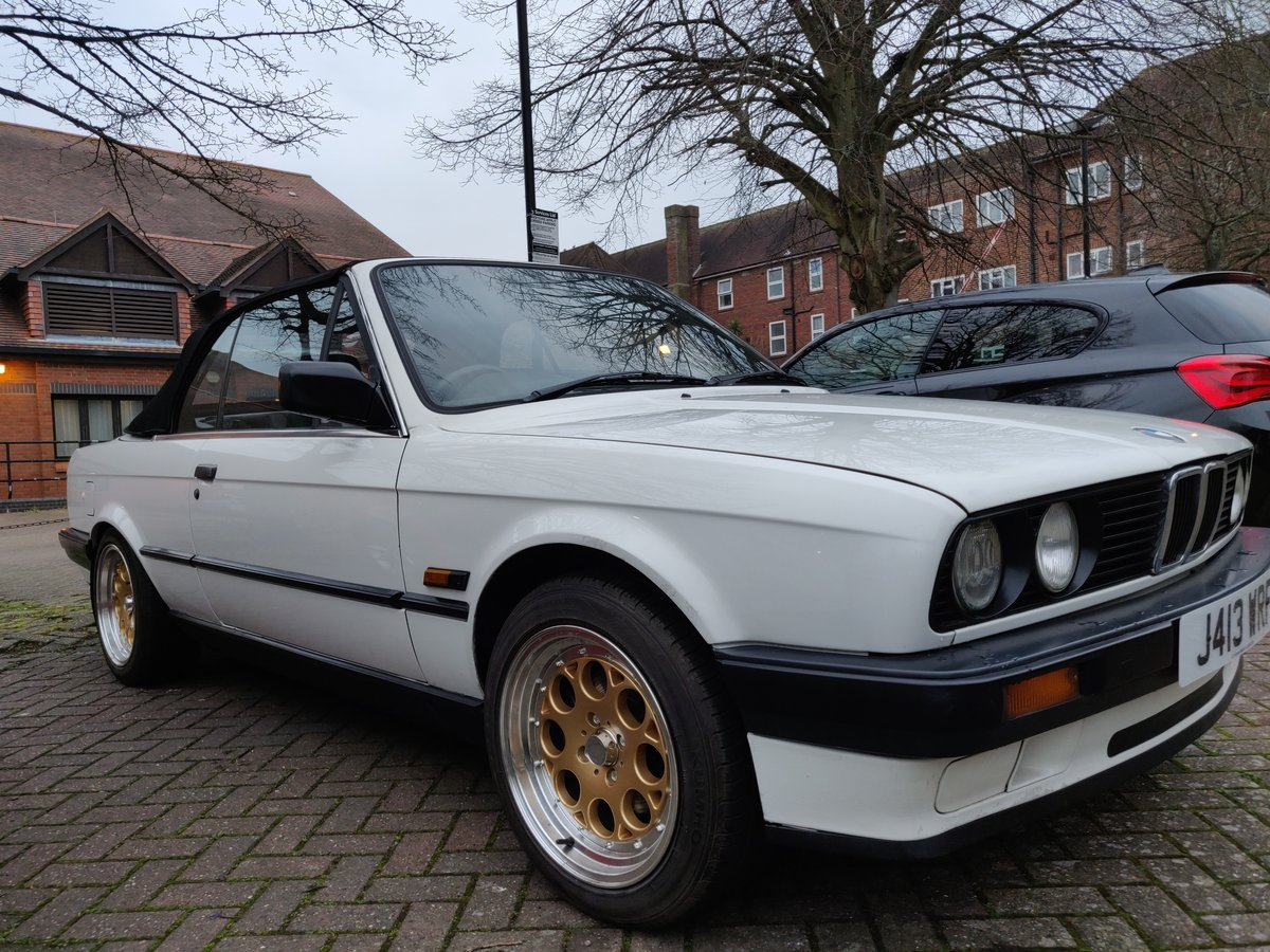 1991 BMW E30 Convertible, White SOLD | Car And Classic