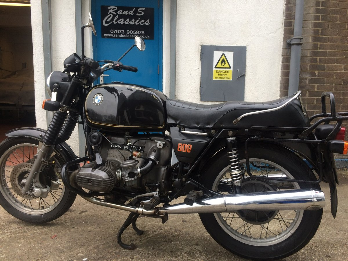 1979 BMW R80/7, wire wheels, running/riding For Sale (picture 1 of 6)
