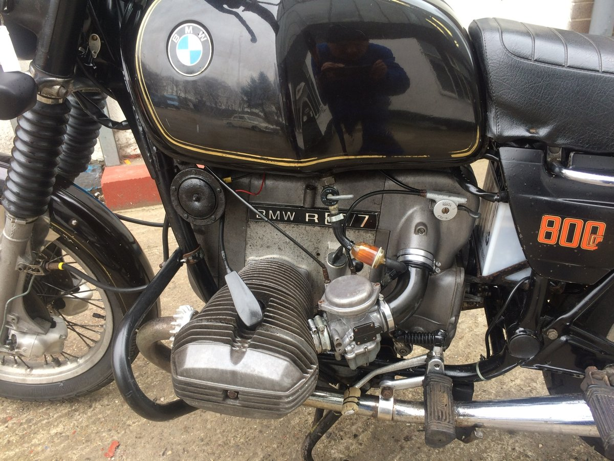 1979 BMW R80/7, wire wheels, running/riding For Sale (picture 2 of 6)
