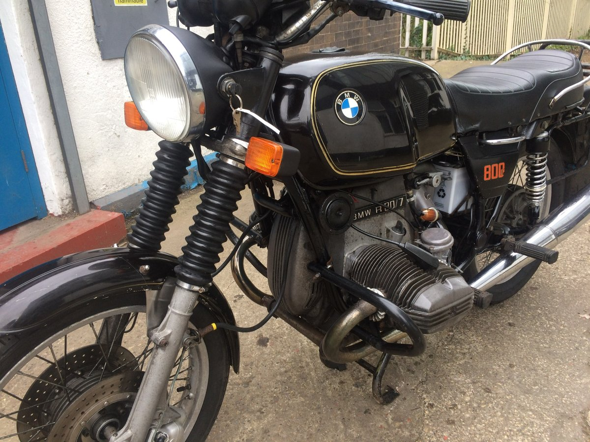 1979 BMW R80/7, wire wheels, running/riding For Sale (picture 3 of 6)