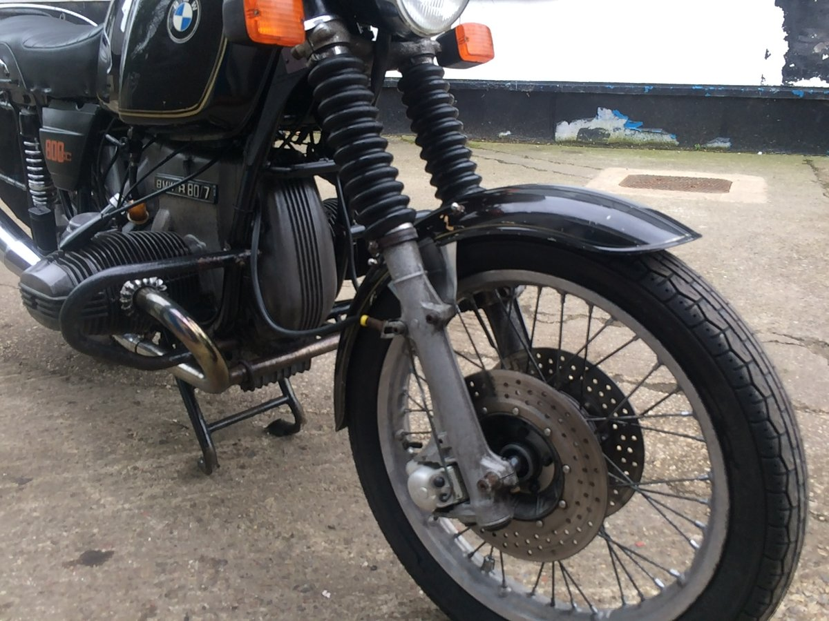 1979 BMW R80/7, wire wheels, running/riding For Sale (picture 6 of 6)