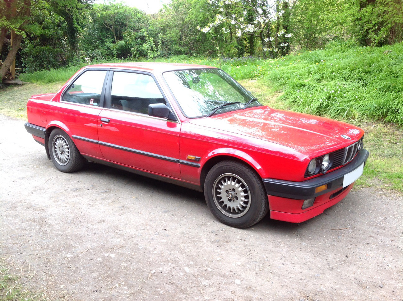 1990 Red BMW 325i For Sale (picture 1 of 6)