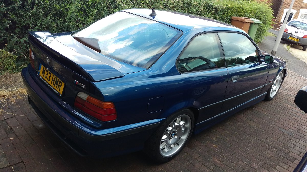 1996 BMW e36 M3 3.0 5 Speed Manual Avus Blue SOLD (picture 4 of 6)