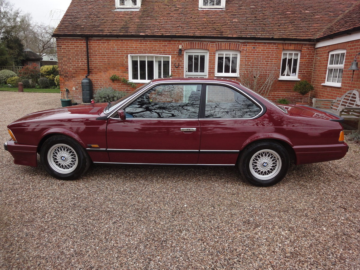 1988 635 csi Highline in Rare colour Wine Red  For Sale (picture 2 of 6)