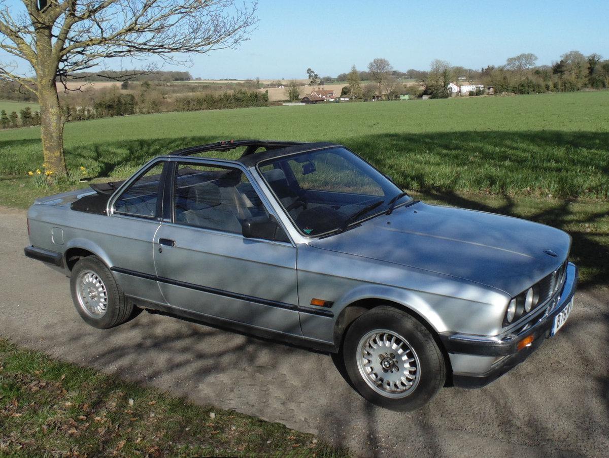1985 BMW 320i Baur Cabriolet SOLD (picture 2 of 6)