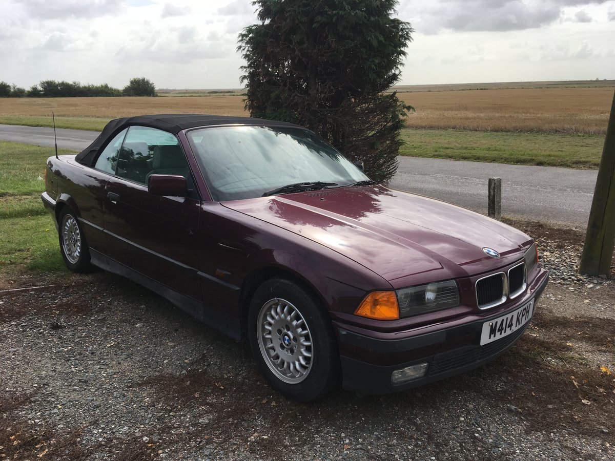 1995 BMW 325i Auto Convertible 1 owner For Sale (picture 2 of 6)
