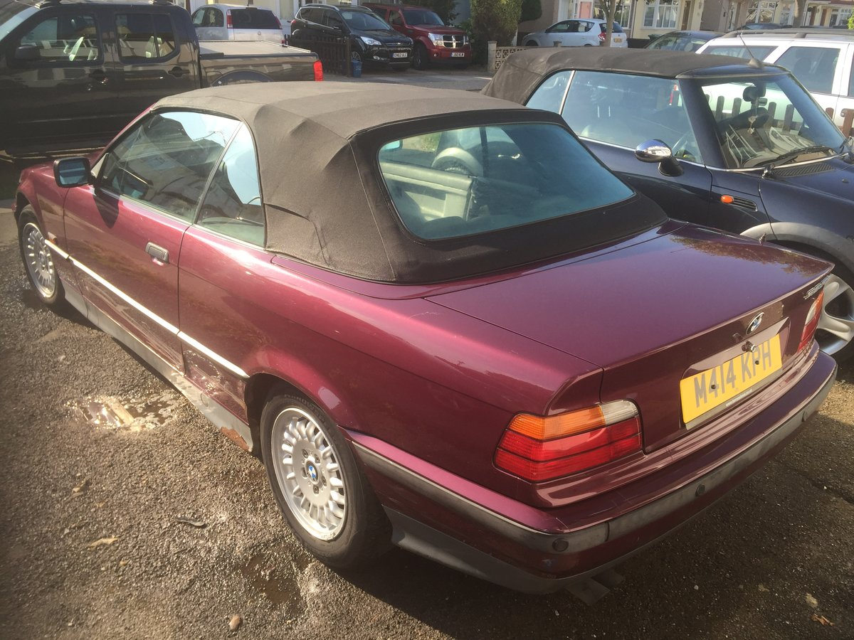 1995 BMW 325i Auto Convertible 1 owner For Sale (picture 3 of 6)