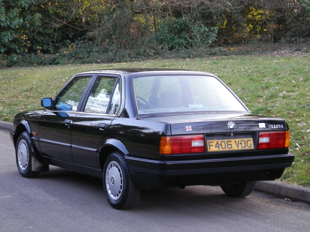 BMW E30 316i SALOON.. ONE OWNER/FSH.. RARE ORIGINAL EXAMPLE SOLD (picture 5 of 6)