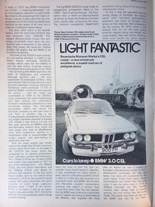 1973 BMW 3.0CSL - 007 Sean Connerys 3.0CSL