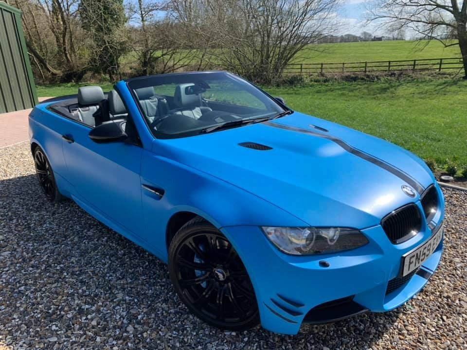 2009 STUNNING  WRAPPED  ICE  BLUE  M3  CONVERTIBLE  For Sale (picture 1 of 6)