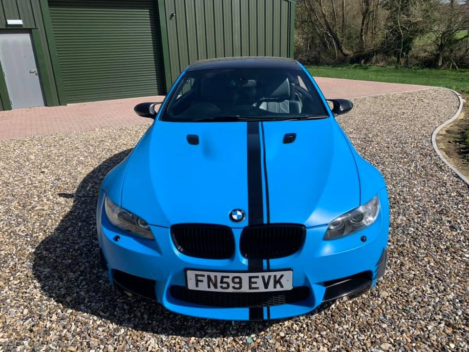 2009 STUNNING  WRAPPED  ICE  BLUE  M3  CONVERTIBLE  For Sale (picture 3 of 6)
