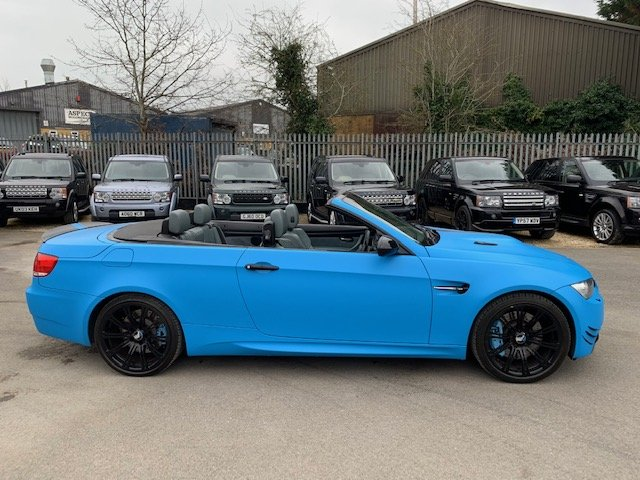 2009 STUNNING  WRAPPED  ICE  BLUE  M3  CONVERTIBLE  For Sale (picture 4 of 6)