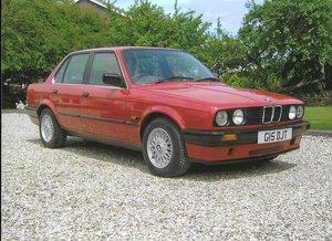 1989 BMW 316i E30 Red. 2010 Restoration, with MOT.