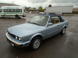 BMW 325i 2.5 AUTO LHD E30 CONVERTIBLE(1990)GLACIER BLUE!  SOLD