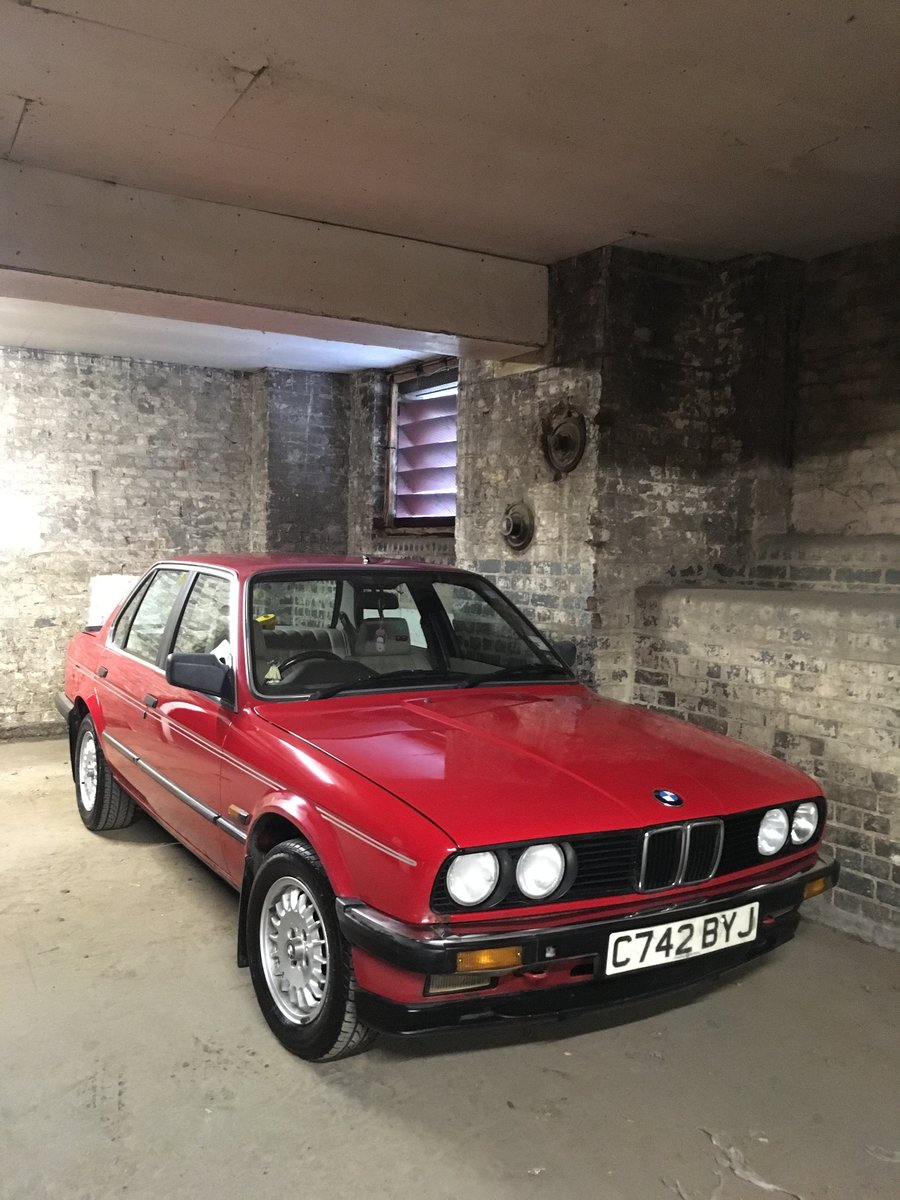 1985 BMW E30 323i Red Coupe Automatic Low Milage For Sale (picture 1 of 6)