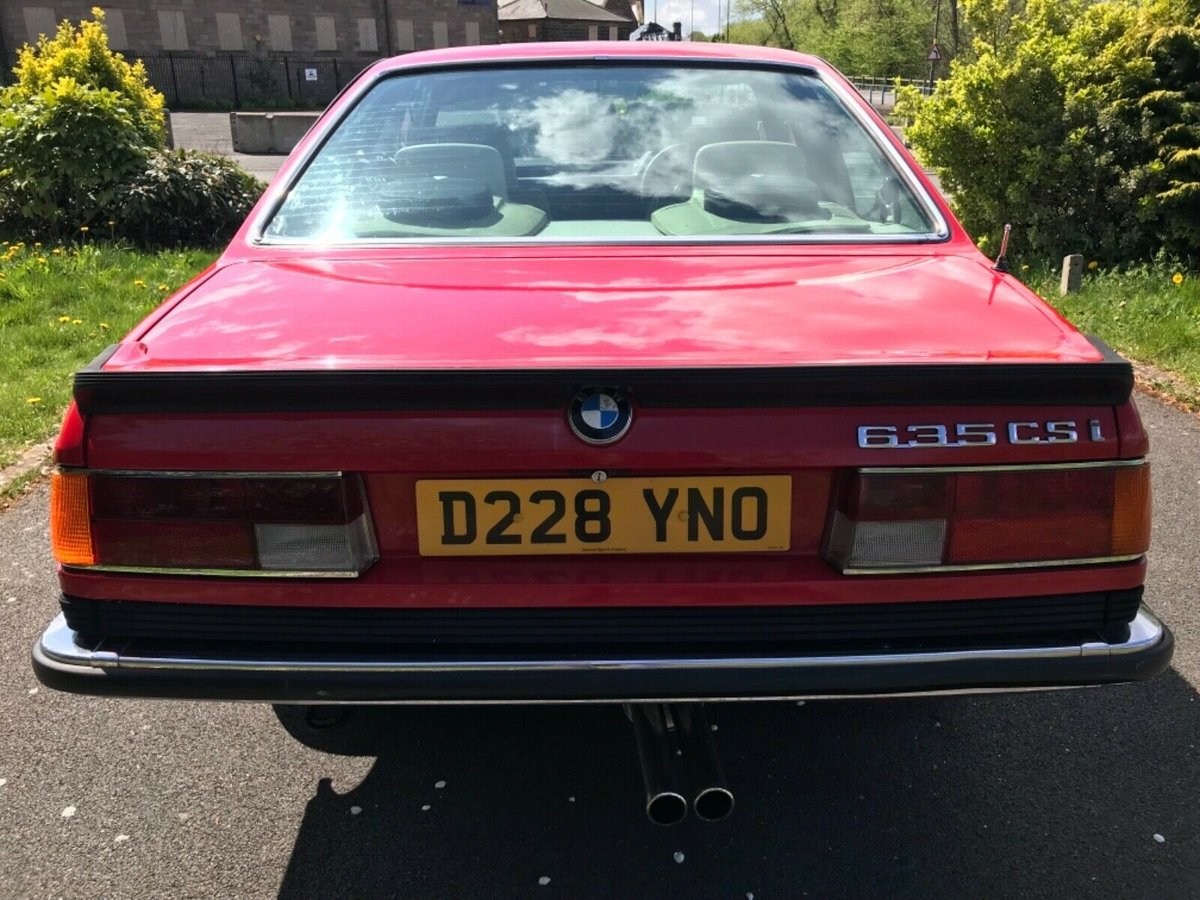 1987 Bmw 635 csi in red For Sale (picture 2 of 6)