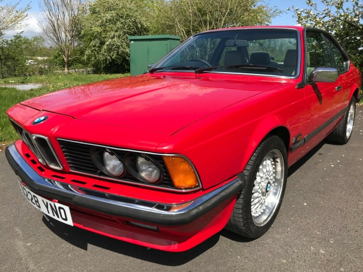 1987 Bmw 635 csi in red For Sale (picture 3 of 6)