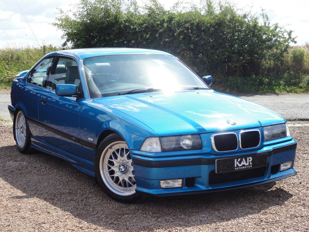 1999 BMW E36 328i Sport, Individual Atlantis Blue, Automatic, 81k For Sale (picture 1 of 6)