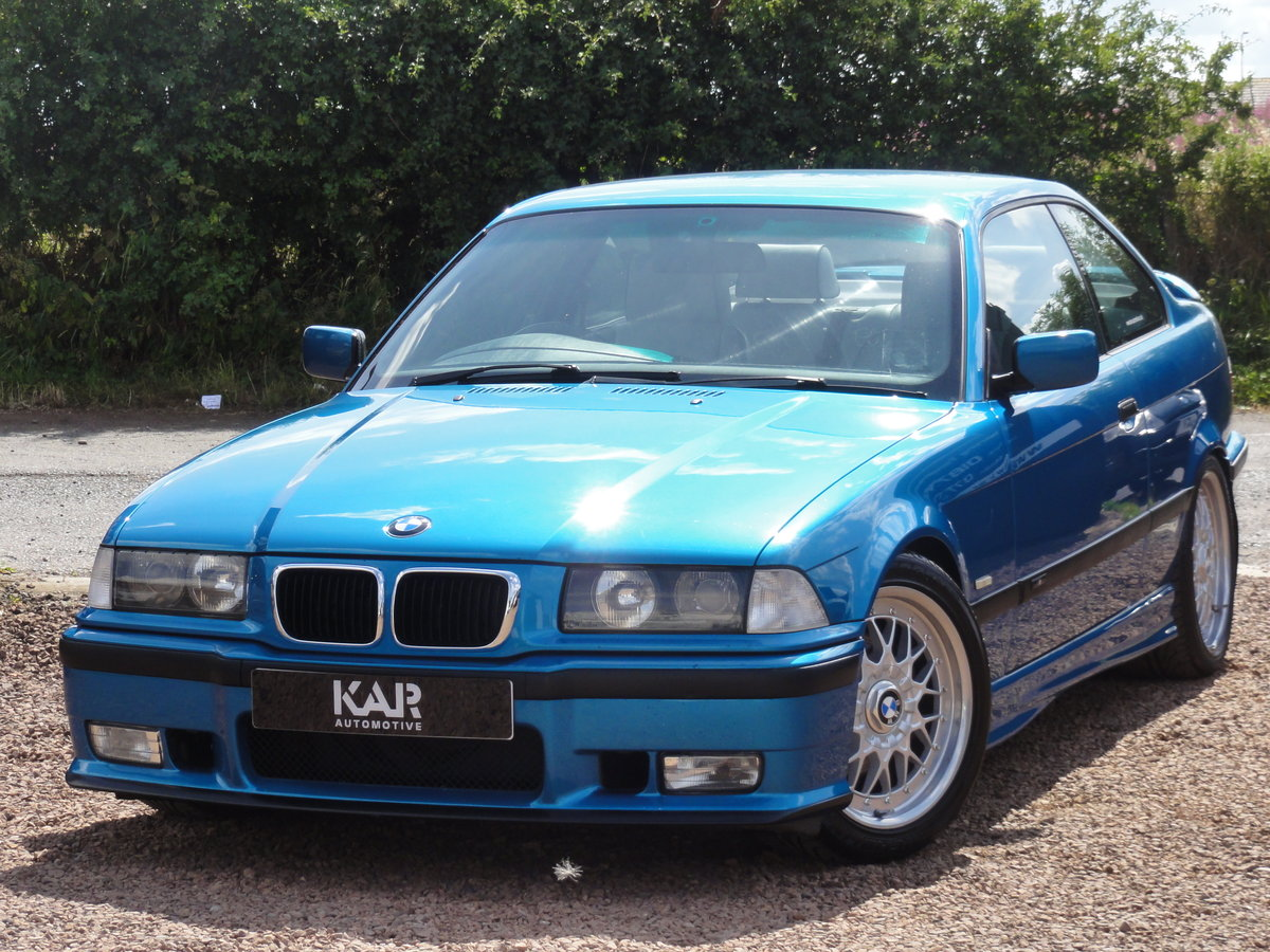 1999 BMW E36 328i Sport, Individual Atlantis Blue, Automatic, 81k For Sale (picture 2 of 6)