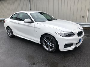2017 17 BMW 2 SERIES 2.0 218D M SPORT COUPE AUTO 148 BHP For Sale