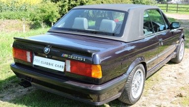 1988 E30 BMW 325i Convertible Motorsport Edition Auto For Sale (picture 6 of 6)
