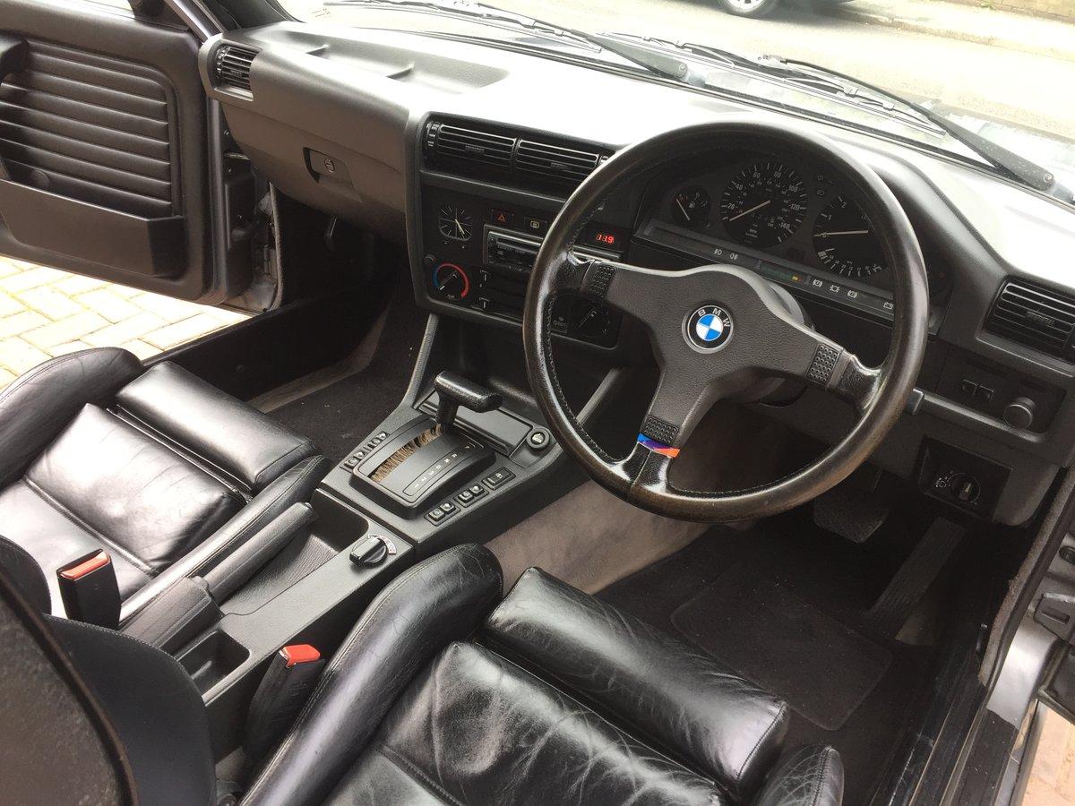 1992 K BMW E30 320I AUTO CABRIOLET GRANIT SILVER For Sale (picture 4 of 6)