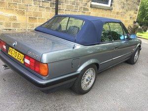 1992 K BMW E30 320I AUTO CABRIOLET GRANIT SILVER For Sale