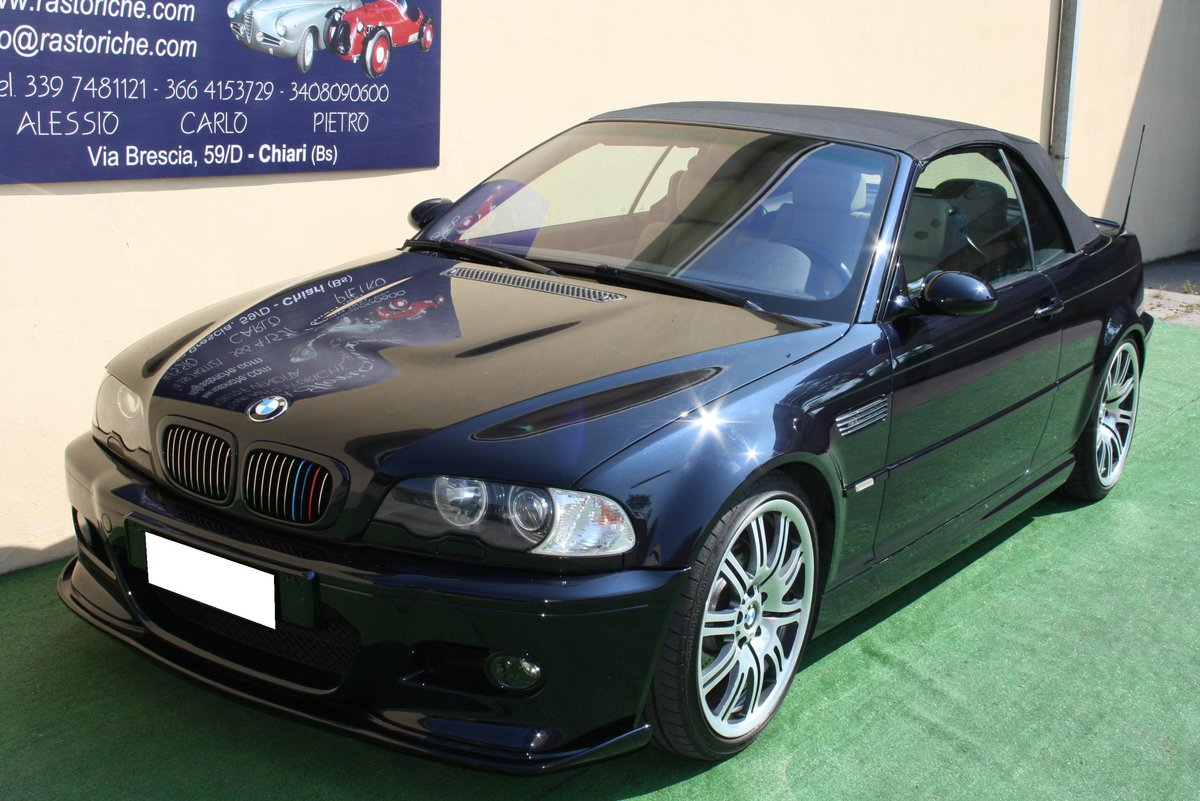 2002 BMW M3 E 46 CONVERTIBLE For Sale (picture 1 of 6)
