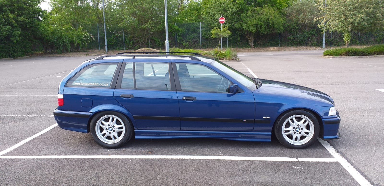 1999 BMW e36 Touring M Sport Avus Blue 73k For Sale (picture 3 of 6)