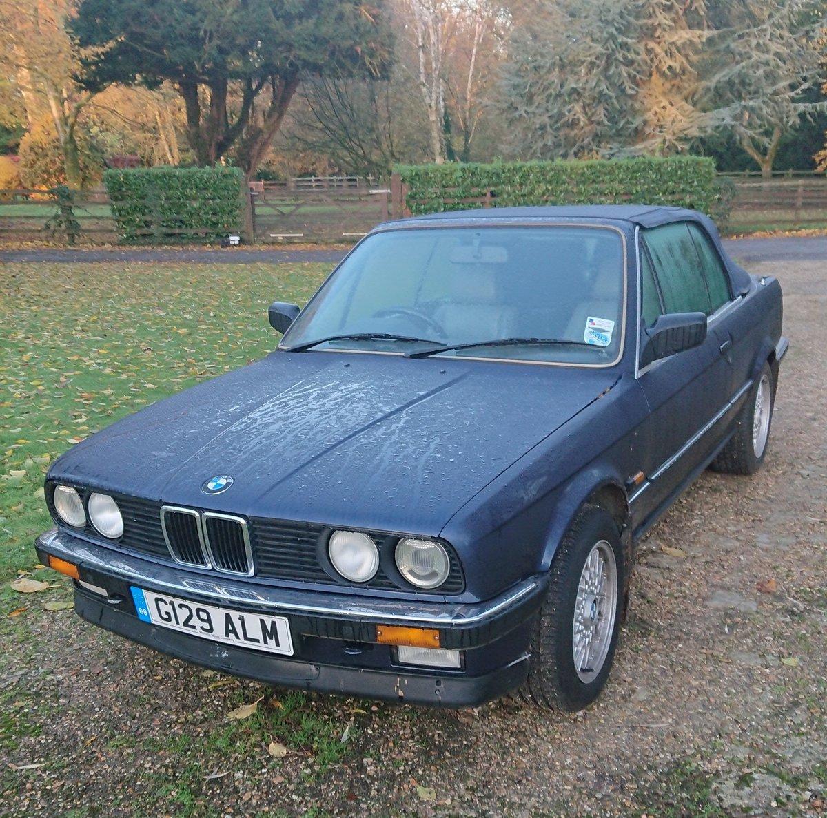 1990 BMW E30 320i Convertible Auto Royalblau Metalic For Sale (picture 1 of 6)