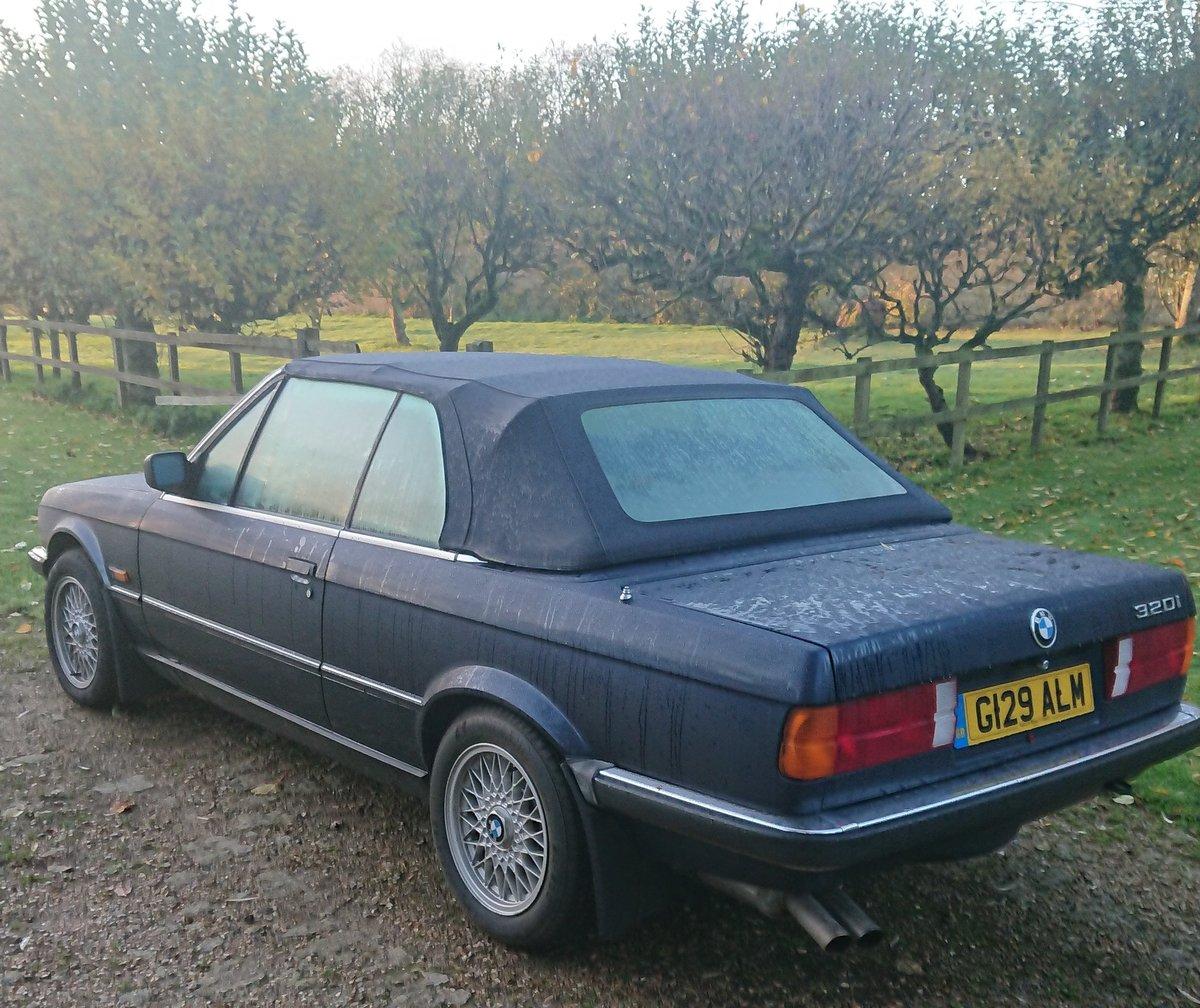 1990 BMW E30 320i Convertible Auto Royalblau Metalic For Sale (picture 2 of 6)
