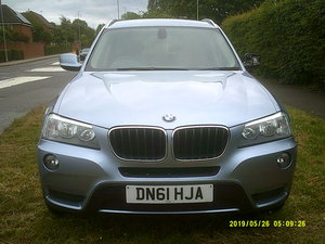 2011 FACE LIFT MODEL  BMW X3 5 DOOR 2LTR DIESEL WITH A TOW BAR