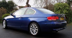 Bmw 325i 3l 2 door coupe blue manual tow bar 2009