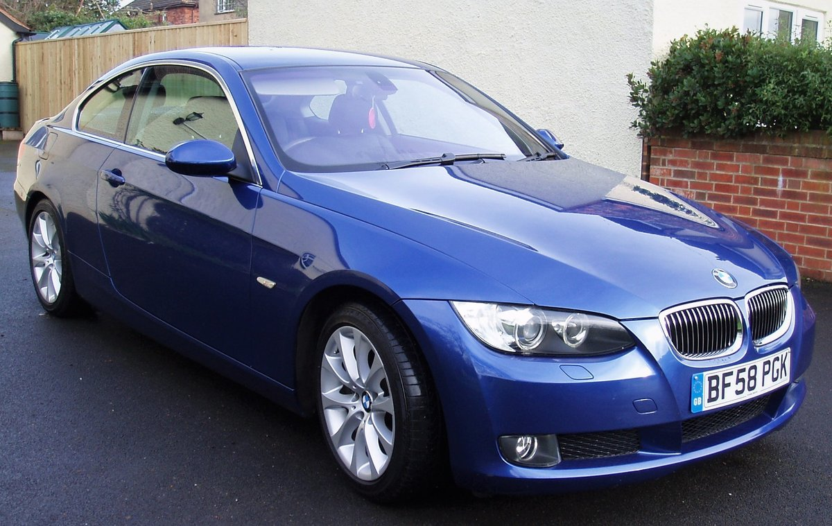 Bmw 325i 3l 2 door coupe blue manual tow bar 2009 For Sale (picture 3 of 6)