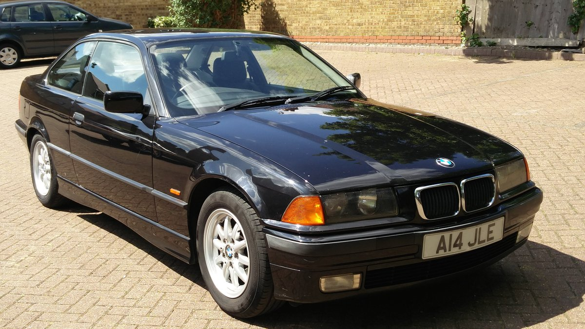 Bmw 323i 2.5 e36 coupe 1998 r reg met black / leat SOLD (picture 1 of 6)