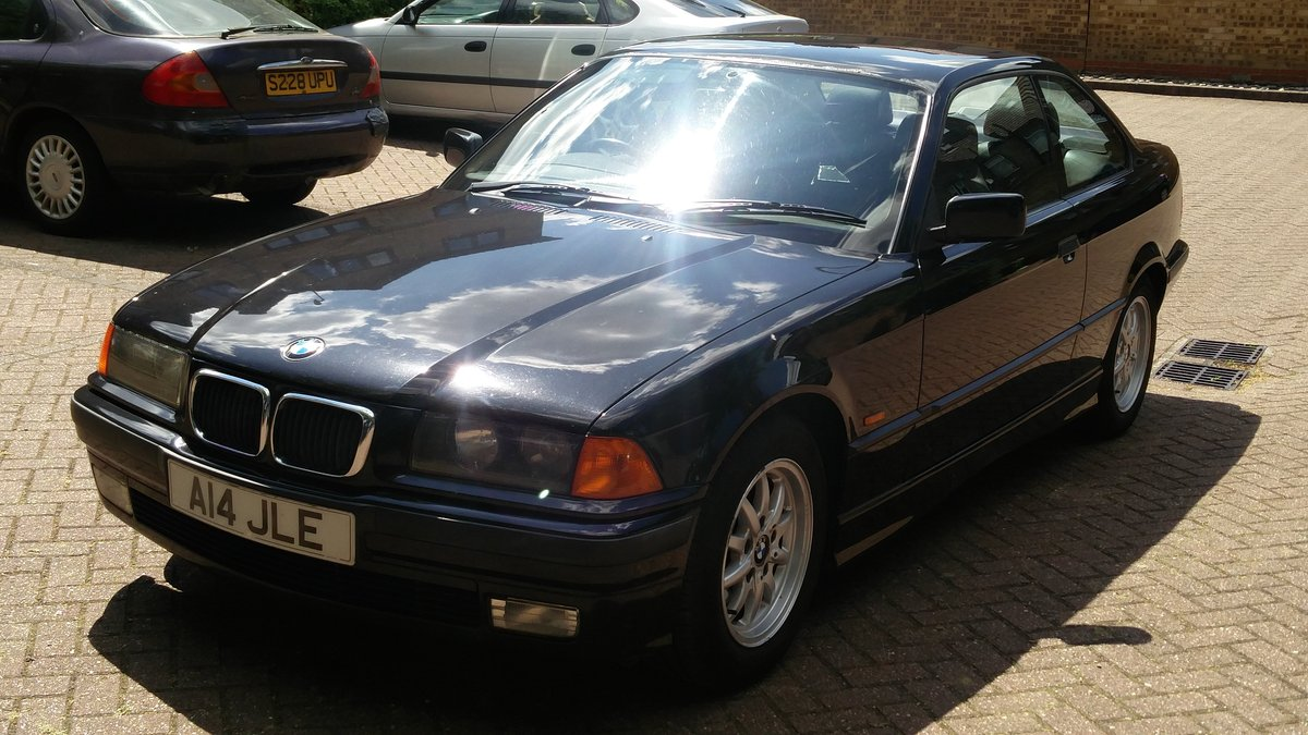 Bmw 323i 2.5 e36 coupe 1998 r reg met black / leat SOLD (picture 2 of 6)