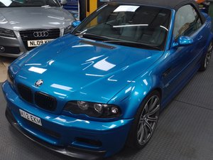 2003 Bmw e46 M3 manual convertible rare blue For Sale